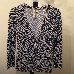 Zebra print cardigan